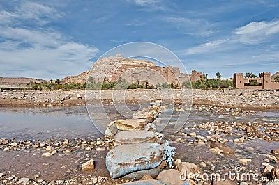 Ounila river near Ait Ben Haddou, Morocco