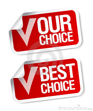 Our choice stickers.