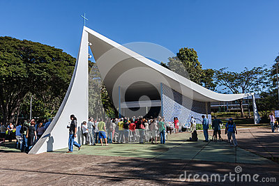 Our Lady of Fatima Church - Brasilia Editorial Photography