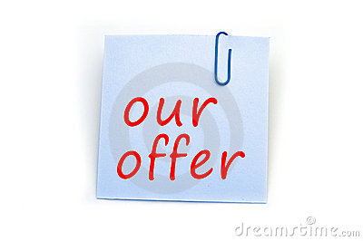 Our offer note
