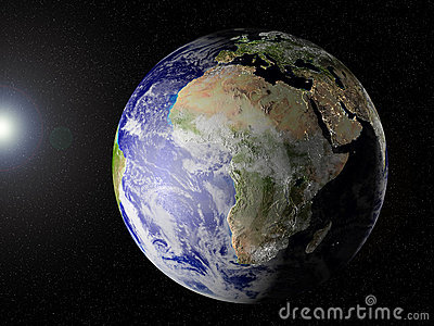 Our planet in space (Africa view)