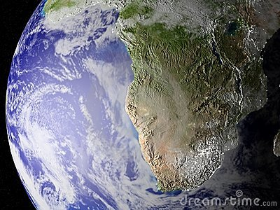 Our planet in space (zoom on south of Africa)