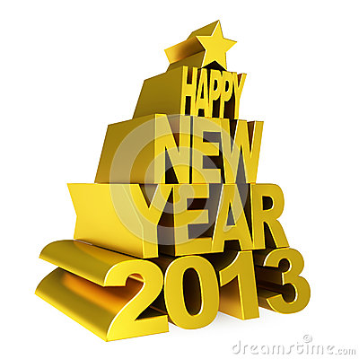 Ouro 2012 do ano novo feliz
