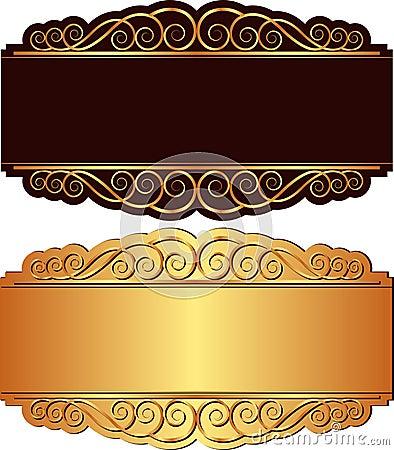 Ouro e fundo preto
