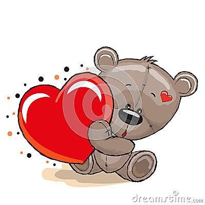 ours avec le coeur photographie stock image 1653532