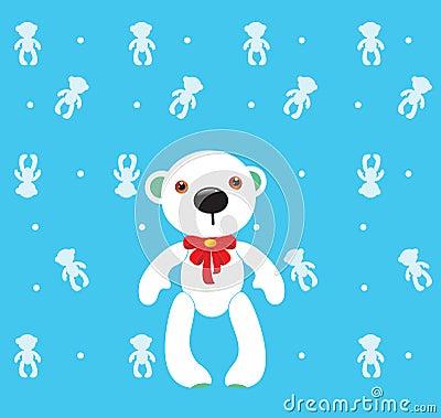 Ours blanc de dessin animé
