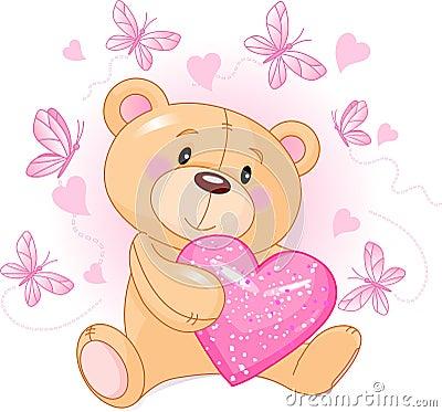 ours de nounours avec le coeur d amour