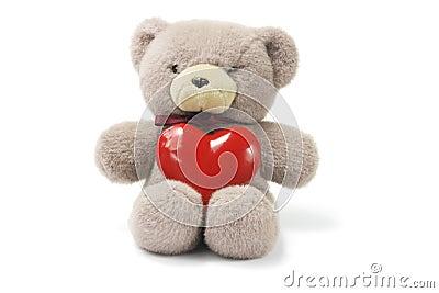 Ours de nounours avec le coeur d 39 amour images stock image 3920034 - Coeur nounours ...