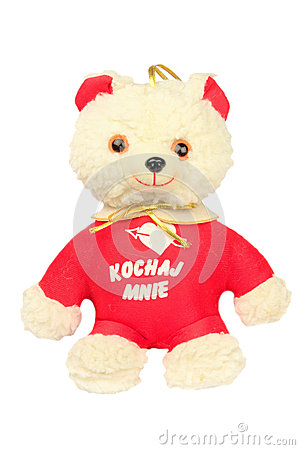 Ours mol de jouet avec un coeur