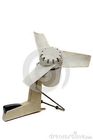 The out-of-date white fan
