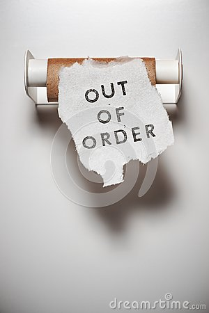 Free Out Of Order Stock Photo - 109983370