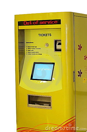 Free Out Of Service Ticket Machine Royalty Free Stock Images - 9170359