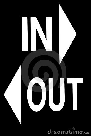 In Or Out Sign Royalty Free Stock Photography - Image: 4464207