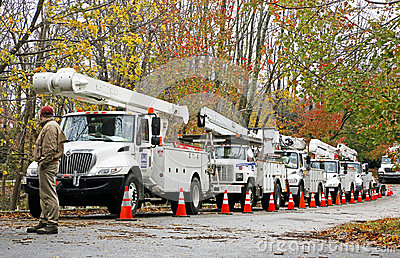 Out-of-state help to restore power Editorial Image