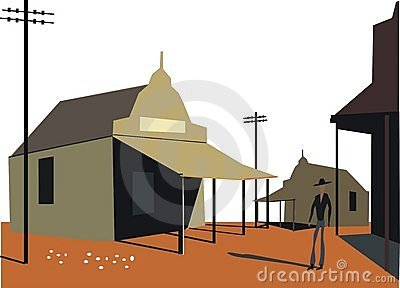Outback buildings illustration