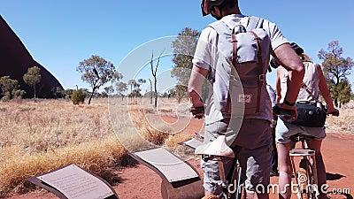 Outback Cycling Bike Ride stock videobeelden