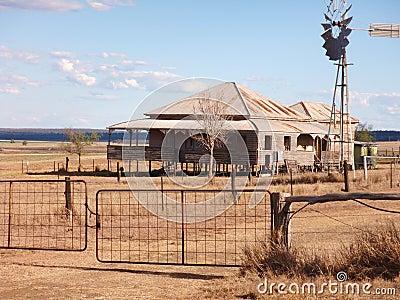Outback Farmhouse Queensland Australia Stock Photos