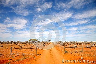 Outback road Australia