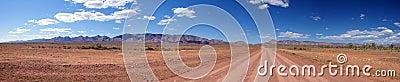 Outback Road & Mountain Range