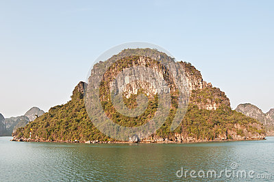 Outcropping in Halong Bay