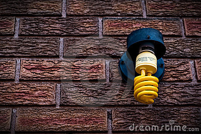 Outdoor Amber Compact Fluorescent Light