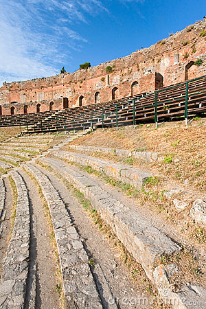 Outdoor antique amphitheatre