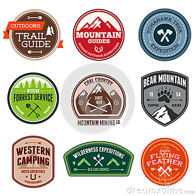 Free Outdoor Badges Stock Image - 28921071