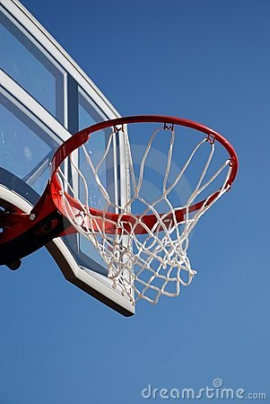 Outdoor basketball backboard and net