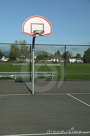 Outdoor Basketball Court Hoop