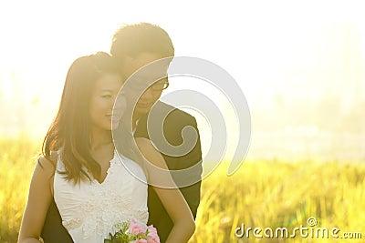 Outdoor Bride and Groom