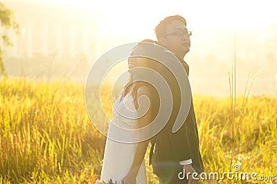 Outdoor Bride and Groom,