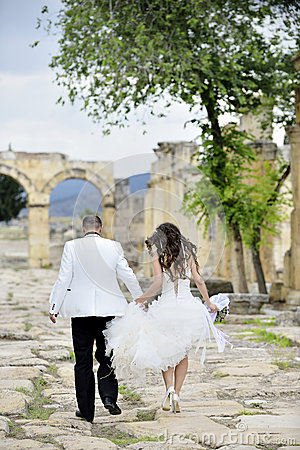 Outdoor Bride and Groom
