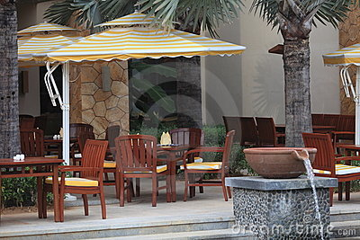 Outdoor cafe