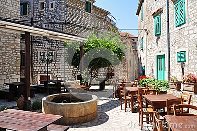 Outdoor cafe, croatia