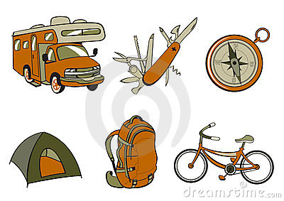 Outdoor and camping icons