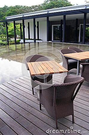 Outdoor patio cane furniture
