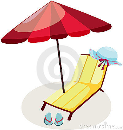 Outdoor chair and umbrella