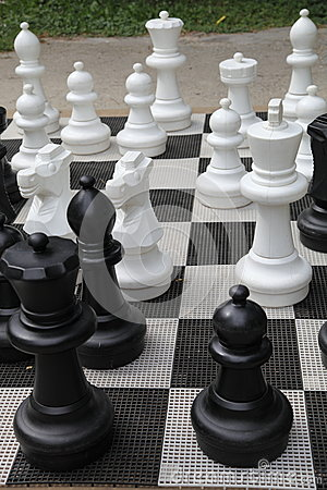 Free Outdoor Chess Board Stock Photography - 26157322