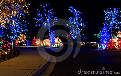 Outdoor Christmas Lights Royalty Free Stock Images Image 1678079