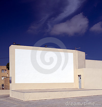 Outdoor Cinema Screen and stage