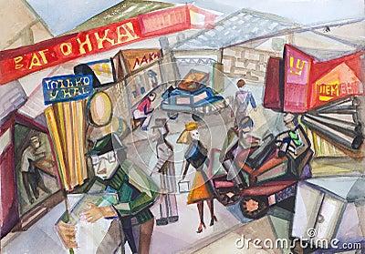 Outdoor city market