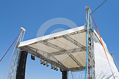 Outdoor concert stage construction