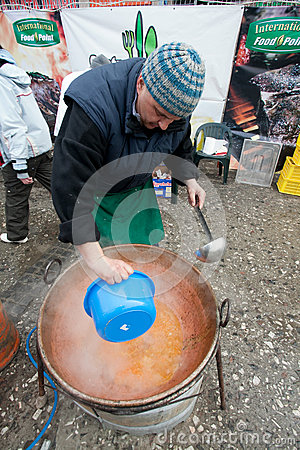 Outdoor Cooking Championship Editorial Stock Image