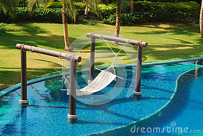 Outdoor cradle and pool in thailand