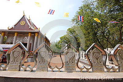 Outdoor design temple in thailand