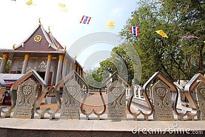 Outdoor design temple in thailand