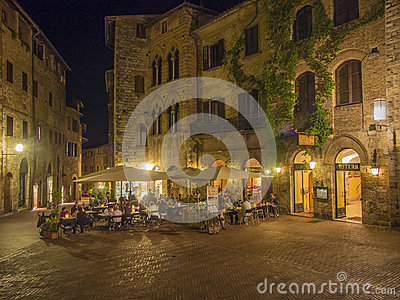 Outdoor dining in Tuscany Editorial Photography