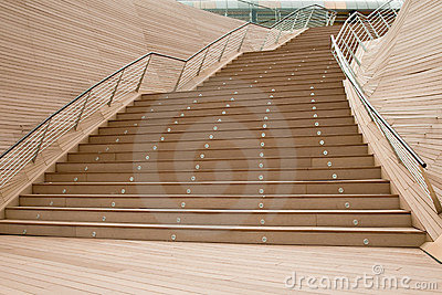 Outdoor flight of stairs
