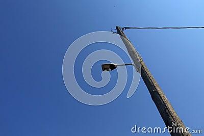 Outdoor floodlight on pole