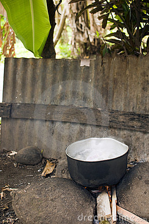 Free Outdoor Food Cooking Corn Island Nicaragua Royalty Free Stock Photography - 23350687